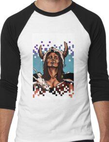 Barbarianna Print Men's Baseball ¾ T-Shirt