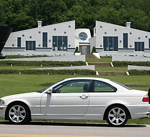 Small World I found a White E46 BMW with a white house! by Daniel  Oyvetsky
