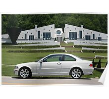 Small World I found a White E46 BMW with a white house! Poster