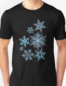 Embroidered Snowflakes on light T-Shirt