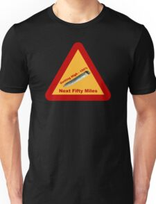 Highway Warning Sign - Getting High Next Fifty Miles Unisex T-Shirt