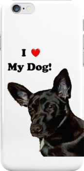 I Heart My Dog! Little Black Dog iPhone & iPod Cases by Patricia Barmatz