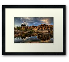 Double Down Framed Print