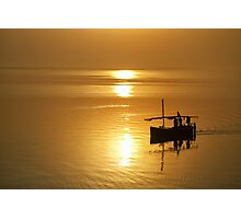 Sailors of the River Gold Photographic Print
