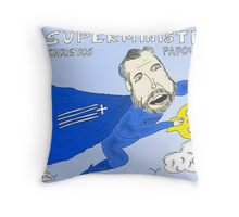 caricature infos des options binaires M. Papoutsis, ministre Grec de l'ordre public Throw Pillow