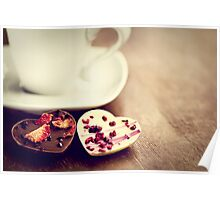 chocolate hearts.. Poster