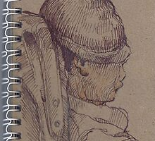 Portreit on the train 9 by boris reyt