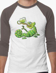 Saint Patrick's Day Chameleon Men's Baseball ¾ T-Shirt