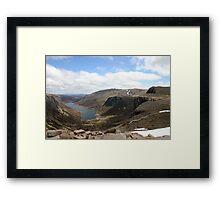 Crag bound Loch Avon, Cairngorm & Monadhliath Framed Print