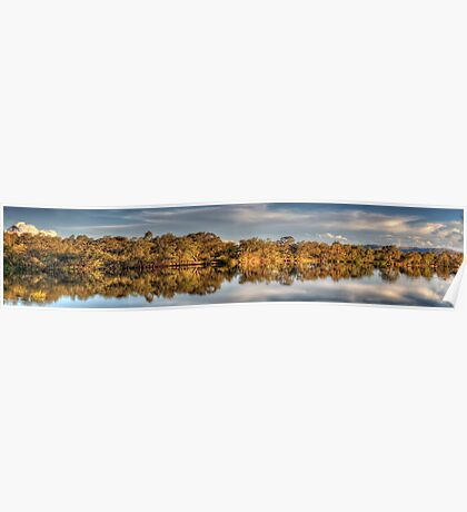 River  Glory  (Panoramic) - Murray River ,Albury , NSW - The HDR Experience Poster