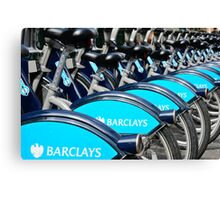 Boris Bike Blues Canvas Print