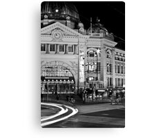 Flinders Station at night Canvas Print