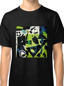 Monochrome Modern Art: Green Classic T-Shirt