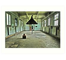 Rendez-vous at the old airplane buildings Art Print