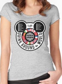 Drink Around the World - EPCOT Checklist v2 Women's Fitted Scoop T-Shirt