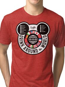 Drink Around the World - EPCOT Checklist v2 Tri-blend T-Shirt