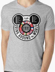 Drink Around the World - EPCOT Checklist v2 Mens V-Neck T-Shirt