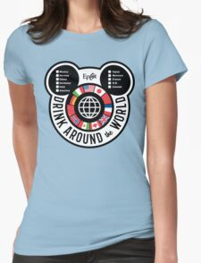 Drink Around the World - EPCOT Checklist v2 Womens Fitted T-Shirt