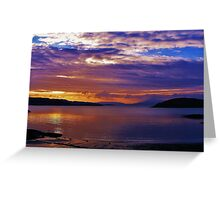 Sunset at Port Appin Greeting Card