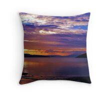 Sunset at Port Appin Throw Pillow