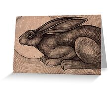 Crouching Hare Greeting Card