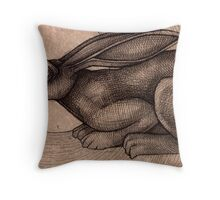 Crouching Hare Throw Pillow