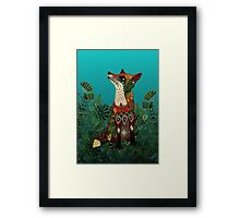 floral fox Framed Print