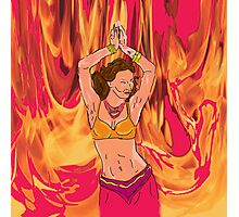 She Dances in the Fire Photographic Print