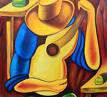 Guitarrista by paintingcuba