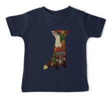 floral fox Baby Tee