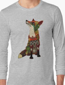 floral fox Long Sleeve T-Shirt
