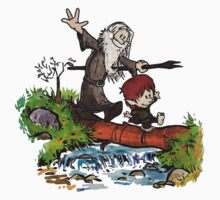 Lord of the Rings meets Calvin and Hobbes Kids Tee