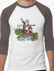 Lord of the Rings meets Calvin and Hobbes Men's Baseball ¾ T-Shirt