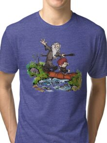 Lord of the Rings meets Calvin and Hobbes Tri-blend T-Shirt