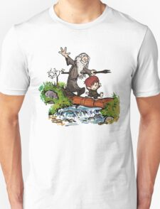 Lord of the Rings meets Calvin and Hobbes T-Shirt