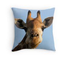 Giraffe at work! Throw Pillow