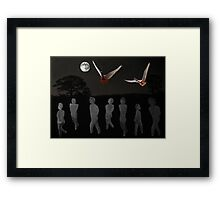 We Used To Wait Framed Print