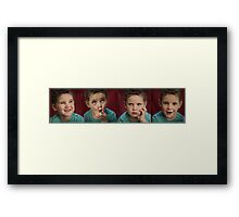 The Faces of Reilly Framed Print