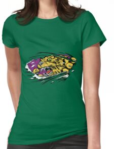Tiger Ripping Womens Fitted T-Shirt