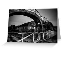 Beamish Pedestrian Railway Bridge Greeting Card