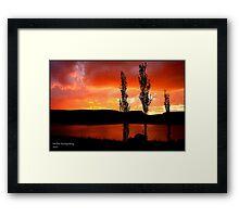 Kwantani, sunset Framed Print