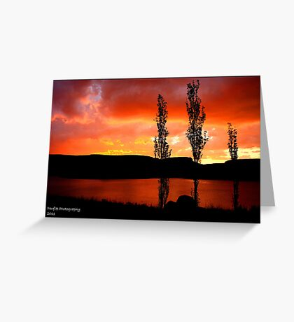 Kwantani, sunset Greeting Card