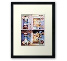 I Had Two Watchers ~ Strange people Who Crawl Under my Door at Night. Framed Print
