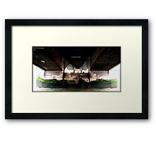 Bridge on the river Themes Framed Print