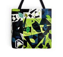 Monochrome Modern Art: Green Tote Bag
