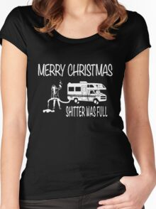 Merry Christmas Shitter's Full Women's Fitted Scoop T-Shirt