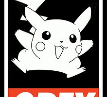 OBEY Pikachu by Royal Bros Art