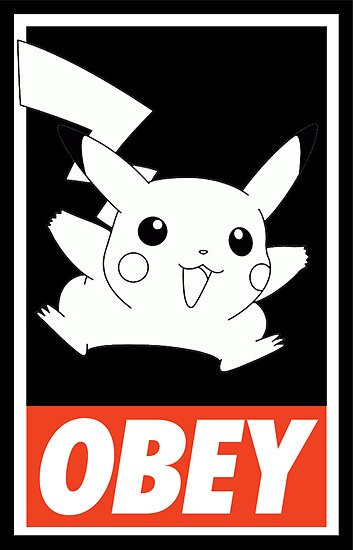 OBEY Picachu by Royal Bros Art