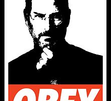 OBEY Steve Jobs by Royal Bros Art