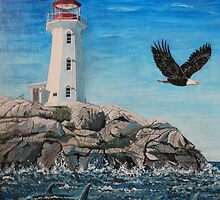 Lighthouse on the Rocks by Kashmere1646